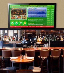 Flight Time TV integrated into digital signage